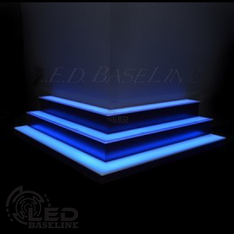 Custom lighted bar shelves