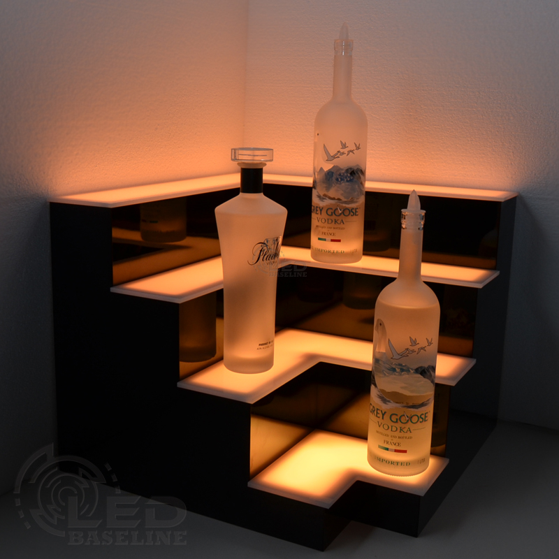 Corner bar shelf
