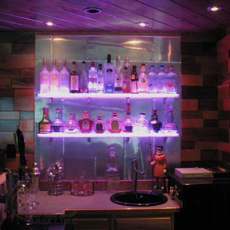 floating LED wall shelf