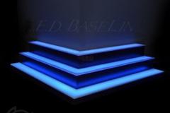 Custom lighted bar shelves