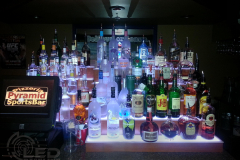 Lighted Bar Shelves