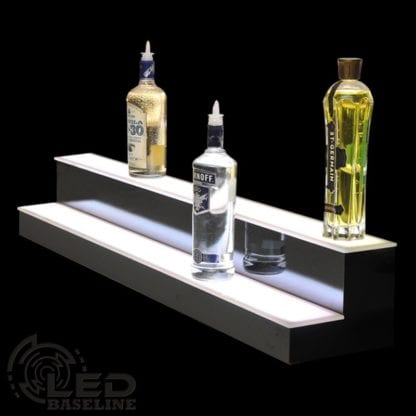 Floating LED Lighted Shelves 2 Step 48 Standard 1