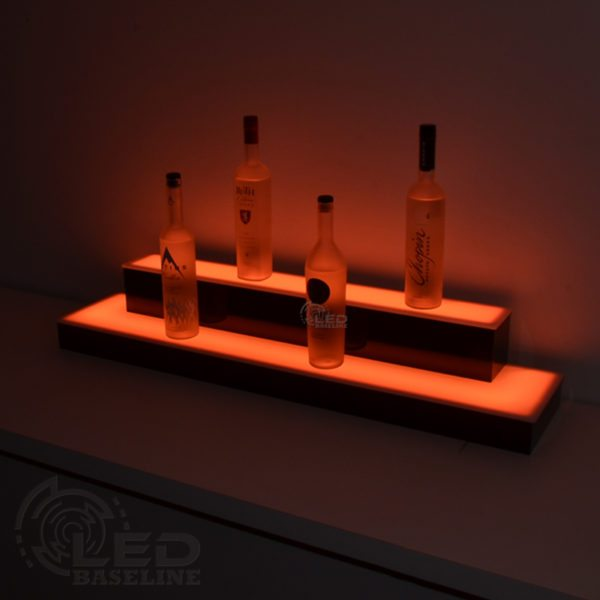 2 Tier Wrap Around LED Display Shelf 2