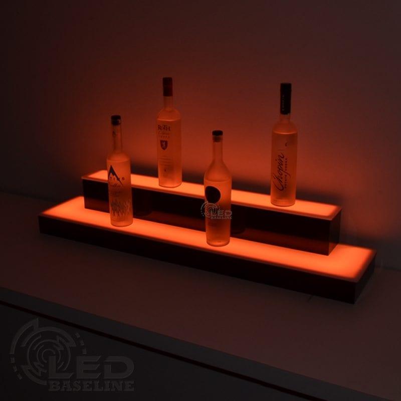 2 Tier Wrap Around LED Display Shelf 2