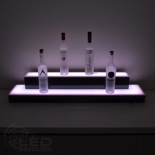 2 Tier Wrap Around LED Display Shelf 1