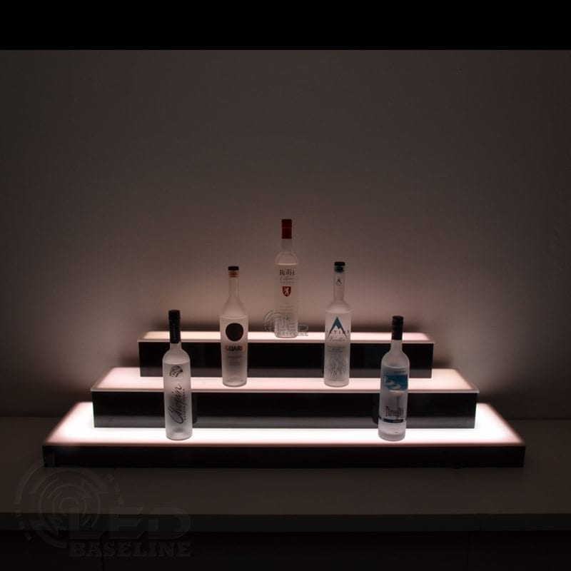 3 Tier Wrap Around LED Display Shelf 5