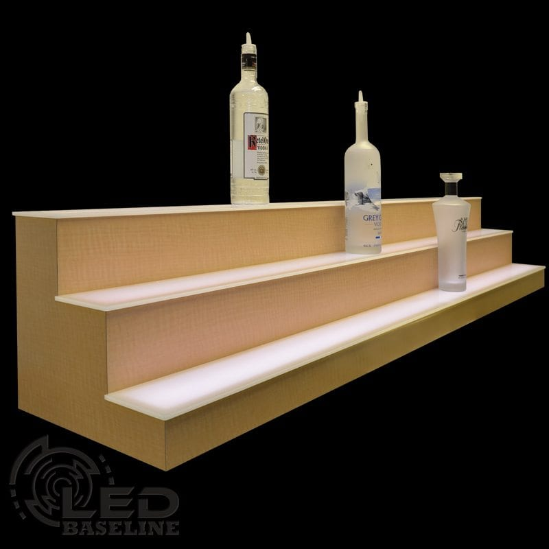 Display Shelves For Collectibles >> 3 Step LED Display Shelf | Lighted Bar Shelves | Home Bar Shelf