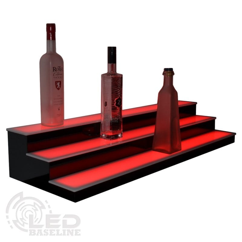 3 Tier Low Profile LED Display Shelf 3