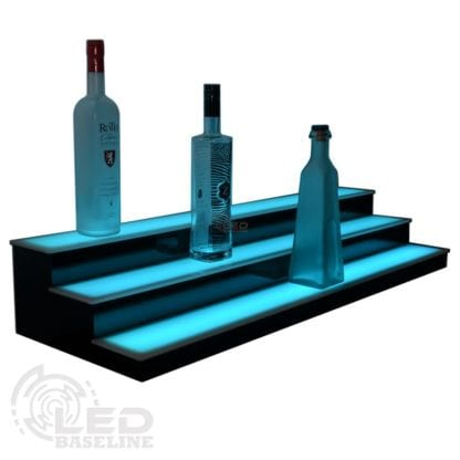 3 Tier Low Profile LED Display Shelf 2