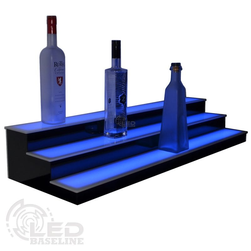 3 Tier Low Profile LED Display Shelf 1