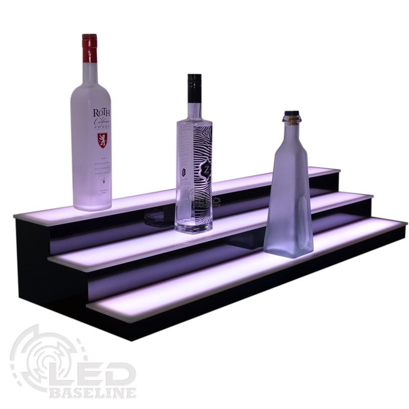 3 Tier Low Profile LED Display Shelf