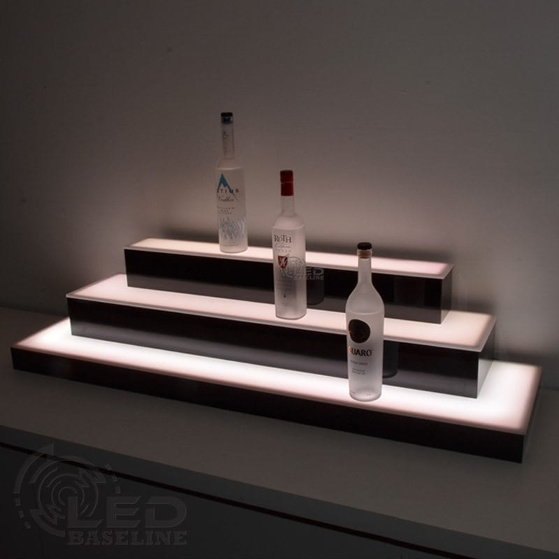 3 Tier Wrap Around LED Display Shelf