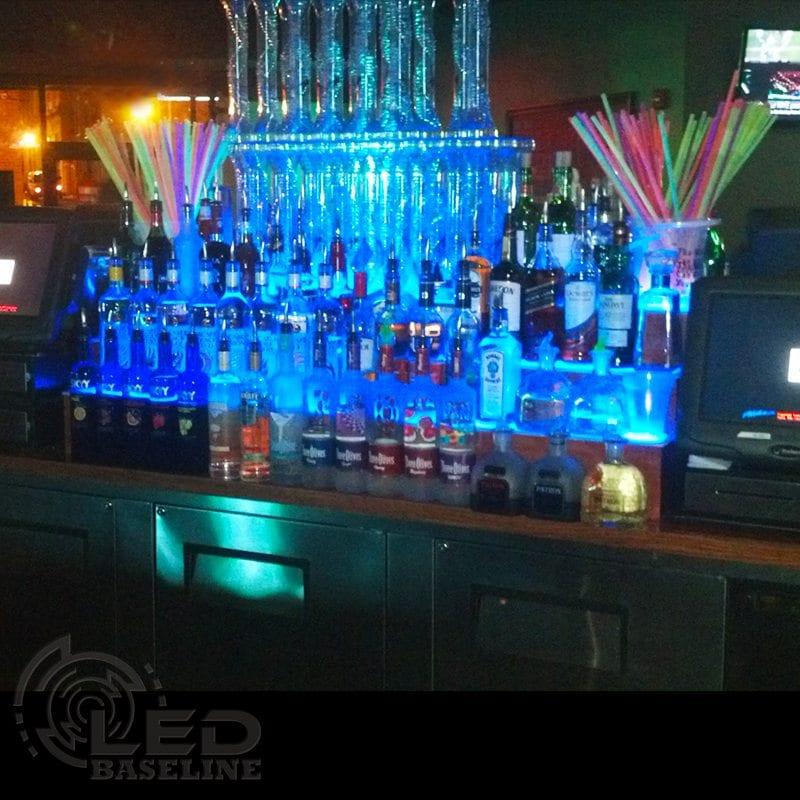 3 step led display shelf lighted bar shelves home bar shelf lighted liquor displays 3 tier led display shelf 3 mozeypictures Gallery