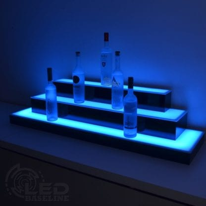3 Tier Wrap Around LED Display Shelf 1