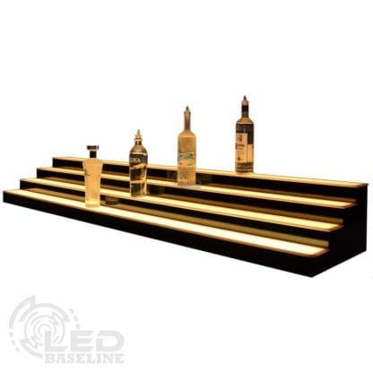 4 Tier Low Profile LED Display Shelf 4