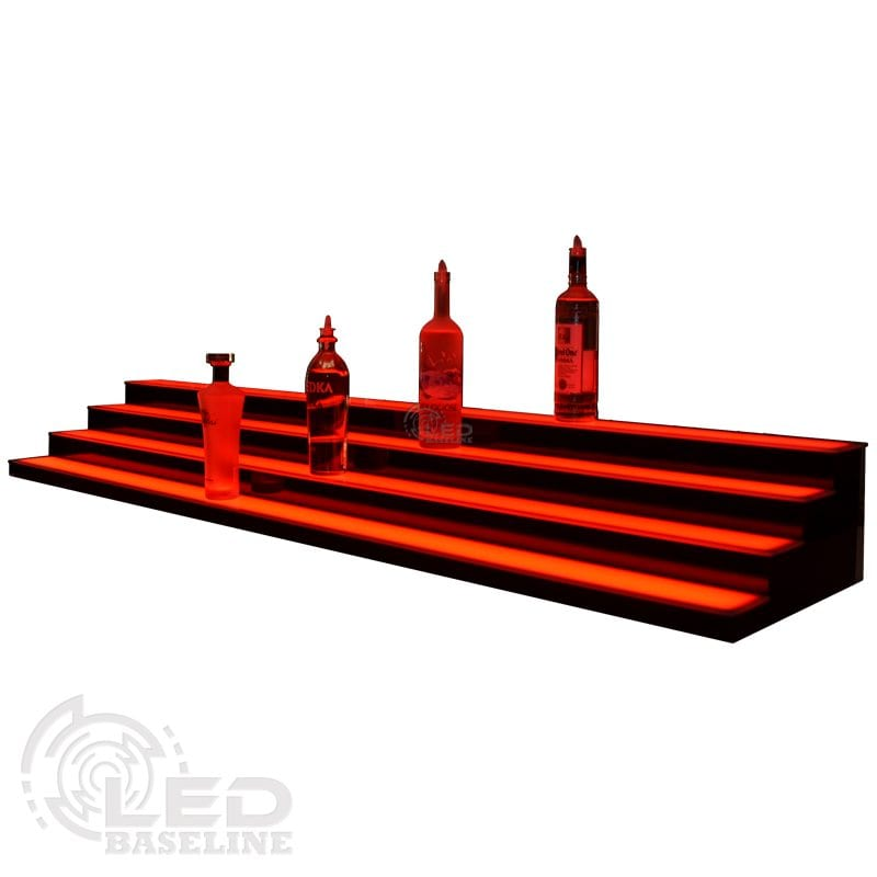 4 Tier Low Profile LED Display Shelf 3