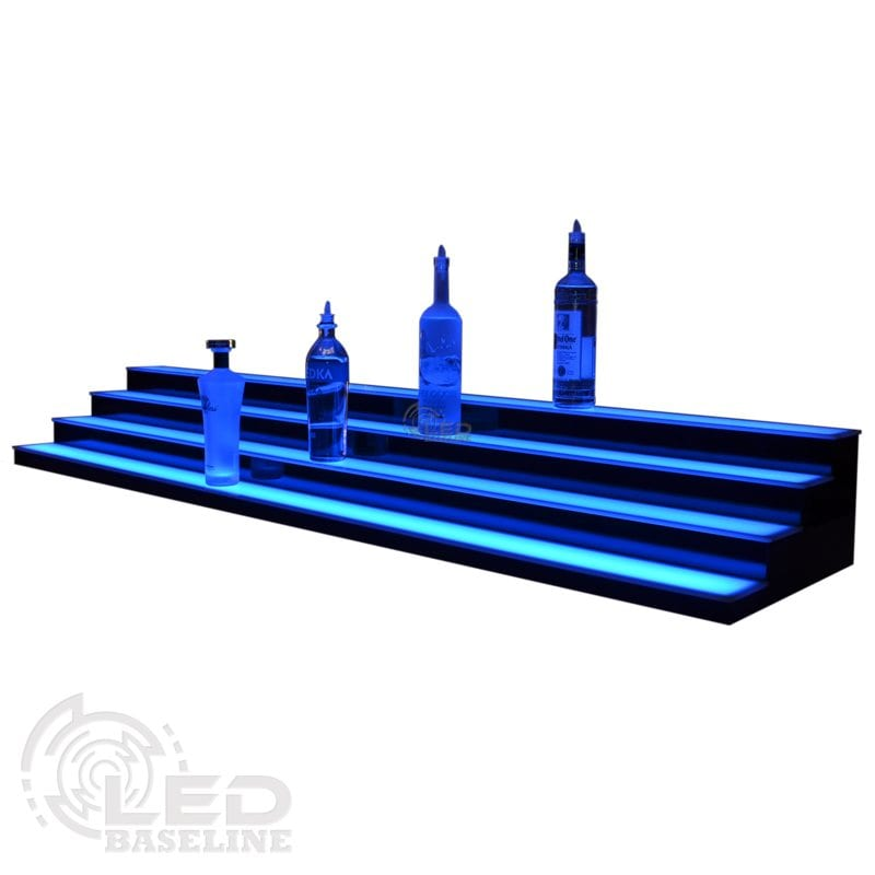 4 Tier Low Profile LED Display Shelf 1