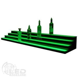 4 Tier Low Profile LED Display Shelf