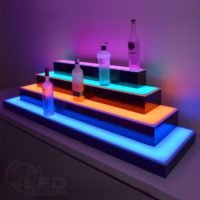 4 Tier Wrap Around LED Display Shelf 2