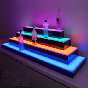 LED Liquor Displays 4 Tier Wrap Around LED Display Shelf 2
