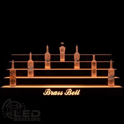 Lighted Liquor Shelf 4 Tier LED Display Shelf 0