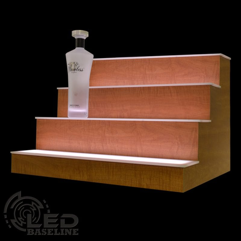 4 Tier LED Display Shelf