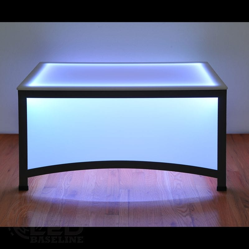 Arch style led coffee table led lighted furniture bar furniture Led coffee table