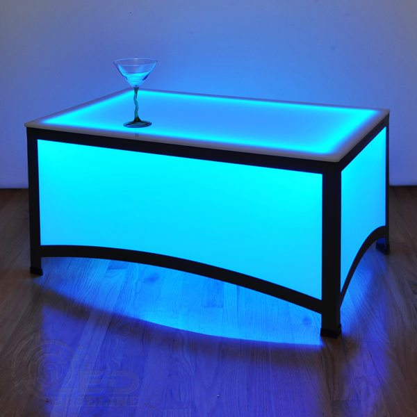 Arch Style LED Coffee Table