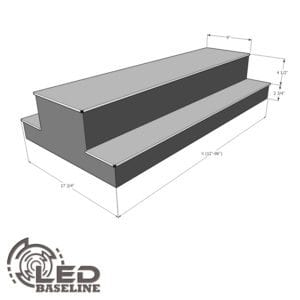 2 Tier 2 Sided Island LED Display Shelf