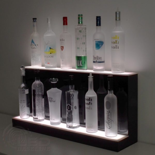 2 Tier High Profile LED Display Shelf