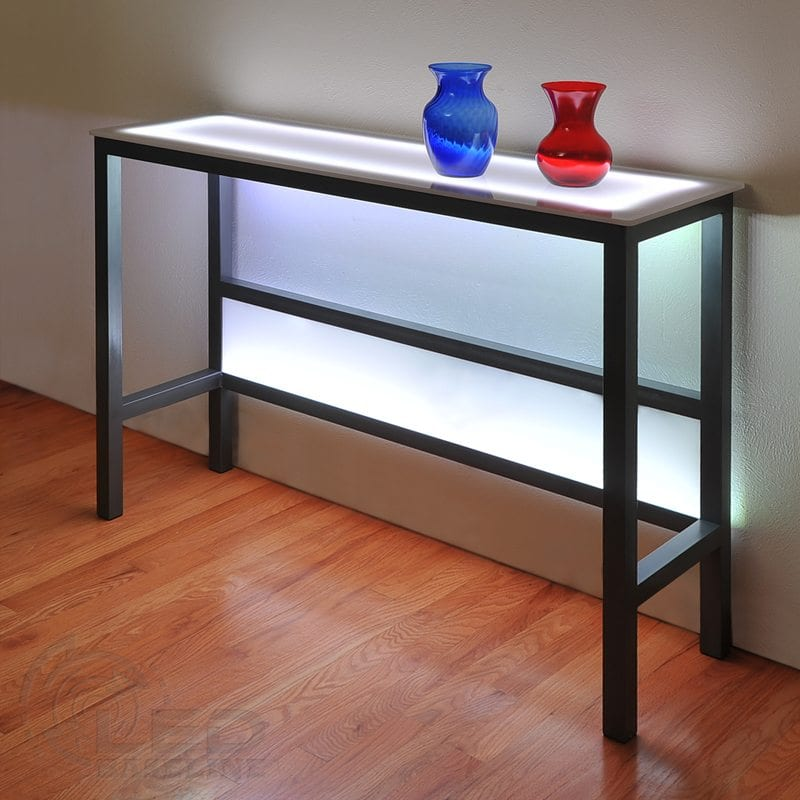LED Wall Table for Nightclubs, Lounges or Home Bars