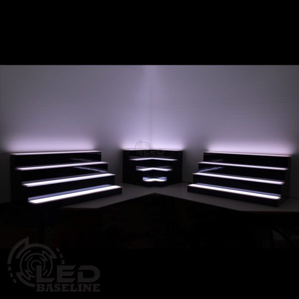 Corner LED Display Shelves 7
