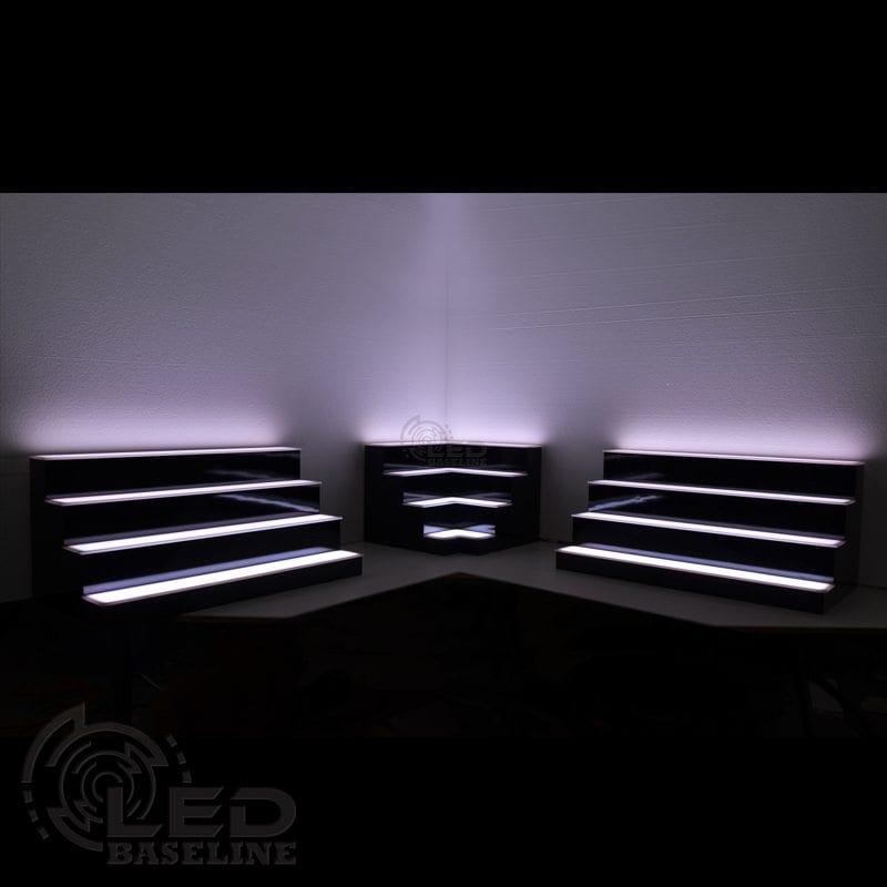 Corner LED Display Shelves 7