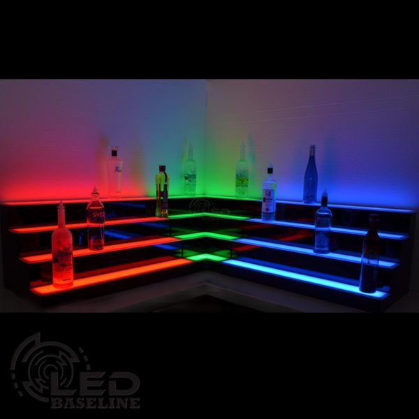 Corner LED Display Shelves 6