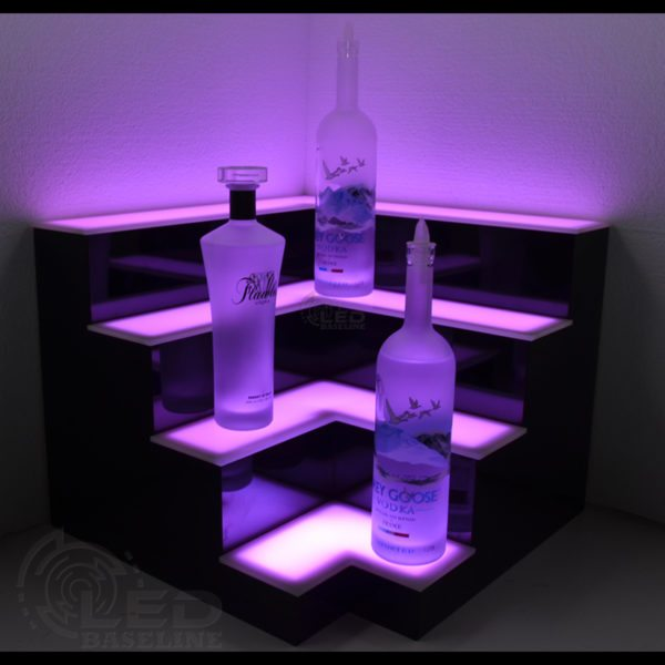 Corner LED Display Shelves 2