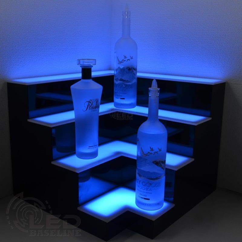 Corner LED Display Shelves 1