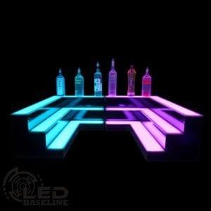 Corner LED Display Shelves