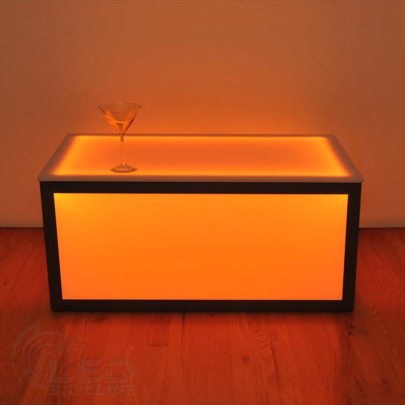 Cube coffee table led table for your bar or nightclub led furniture Led coffee table