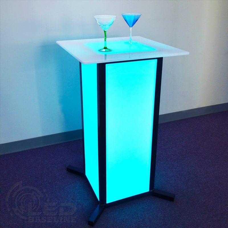 Led Coffee Table Set: Lighted Bar Furniture