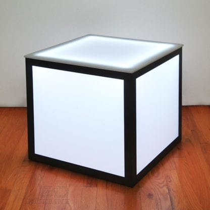 LED Cube Side Table 1