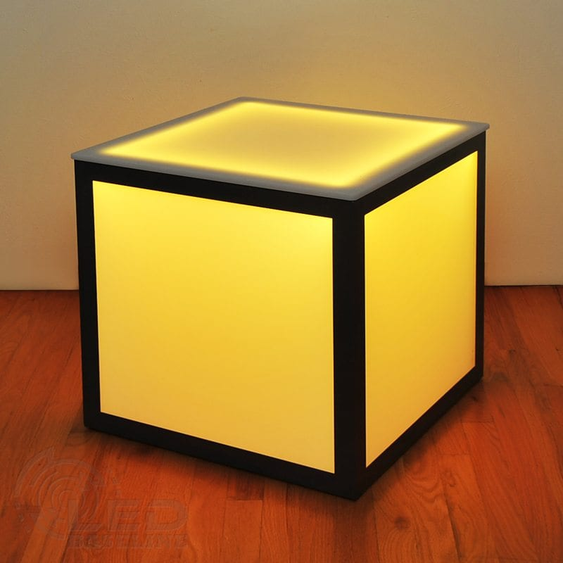 LED Cube Side Table 3