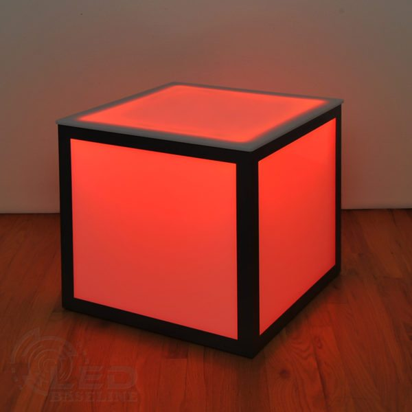 LED Cube Side Table