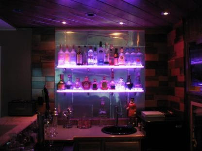 Acrylic LED Floating Shelf