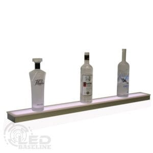 1 Tier Low Profile LED Display Shelf
