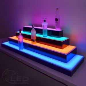 Wrap Around LED Display Shelves