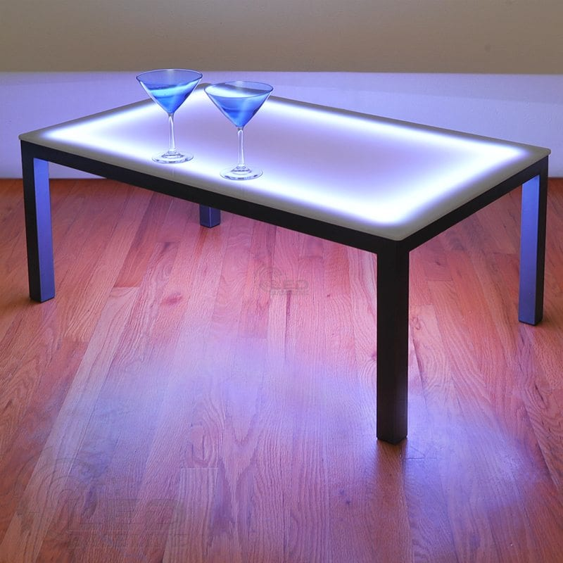 Led coffee table led lighted coffee table led lighted furniture Led coffee table