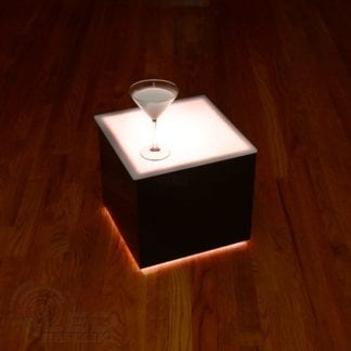 Modern LED Lighted Table -14x14