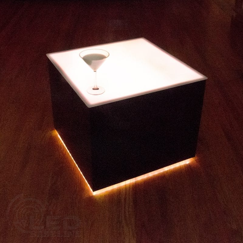 Modern Lighted Table 24 X